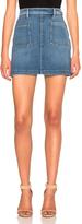 Frame Patch Pocket Skirt