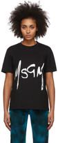 MSGM Black Spray Logo T-Shirt