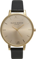 Olivia Burton OB13BD06 big dial gold-plated and leather watch
