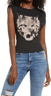 BP Wolf Muscle Graphic Tee with Shoulder Pads