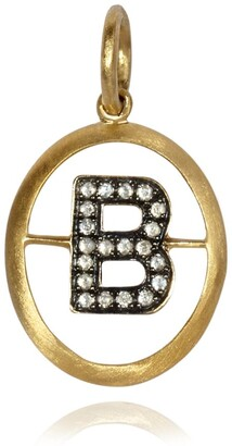 Annoushka Yellow Gold and Diamond Initial B Pendant