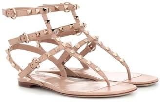 Valentino Garavani Rockstud leather flat sandals