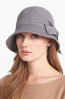 Nordstrom Large Bow Wool Felt Cloche