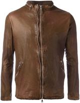 Giorgio Brato classic leather jacket - men - Leather/Nylon/Cotton - 52