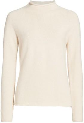 Max Mara Kapok Rolled Turtleneck Cashmere Sweater
