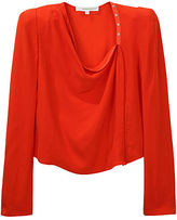 Crepe Asymmetrical Snap Blouse
