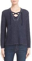 Brochu Walker Women's Wool & Cashmere Lace-Up Sweater