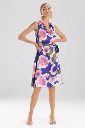 Natori Garden Blossom Mandarin Dress