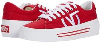 Vans Sid NI ((Canvas) Racing Red) Shoes