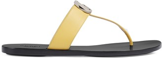 Gucci Women's leather thong sandal with DoubleG