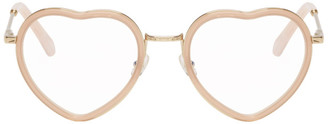 Chloé Pink and Gold Heart Glasses
