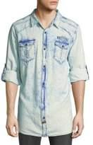 Buffalo David Bitton Faded Denim Button-Down Shirt