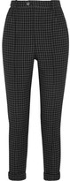Isabel Marant Iola Checked Wool-twill Tapered Pants - Black