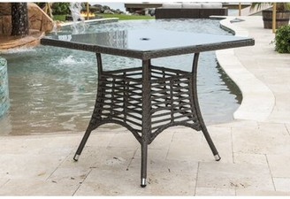 Panama Jack Graphite Glass Dining Table Outdoor