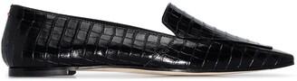 AEYDĒ Aurora crocodile-effect loafers
