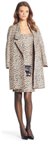 Diane von Furstenberg Britta Leopard Woven Coat