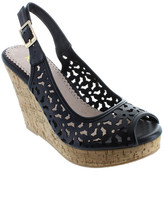 Restricted Rita Peep Toe Wedge