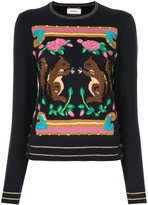 Muveil squirrel motif jumper