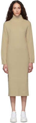 See by Chloe Off-White Knit Turtleneck Dress