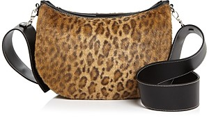 Vasic Faux Fur Leopard Print Shoulder Bag