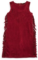 Ella Moss Girls' Faux Suede Fringed Dress - Sizes 7-14