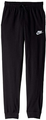 Nike Kids Sportswear Jersey Pant (Little Kids/Big Kids) (Black/White) Boy's Casual Pants