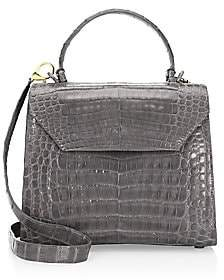 Nancy Gonzalez Women's Medium Lily Crocodile Top Handle Bag