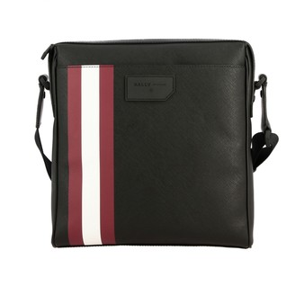 Bally Shoulder Bag Skill.of Bag In Saffiano Leather With Striped Band