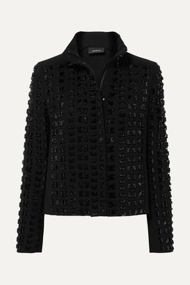 Akris Andorra Embellished Wool-blend Crepe Jacket - Black