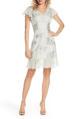 Chi Chi London Clemmie Metallic Jacquard Cocktail Dress