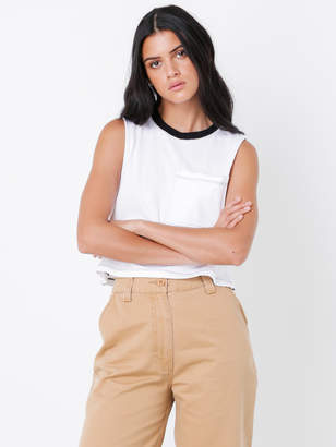 Nude Lucy Lennox Pocket Tank Top in White