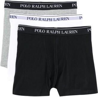 Polo Ralph Lauren Three-Pack Logo Waistband Boxers