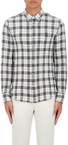 Officine Generale Men's Plaid Cotton Shirt-GREY