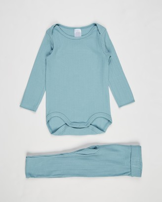Bonds Baby - Boy's Blue Longsleeve Rompers - Everyday Long Sleeve Suit Set - Babies - Size 0000 at The Iconic