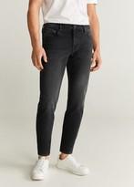 MANGO MAN - Straight fit faded black Steve jeans black denim - 28 - Men