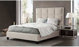 Diamond Sofa Devon Grid Tufted Upholstered Standard Bed Diamond Sofa