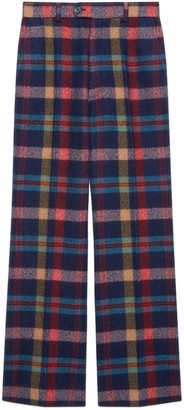Gucci Check wool flare pant