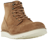 Dune Conrad Wedge Sole Lace-up Suede Boots, Tan