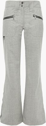 Erin Snow Melange Merino Wool-blend Flared Ski Pants