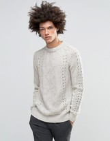 Asos Sweater with Cable Crochet Detail