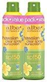 Alba Hawaiian SPF 50 Nourishing Coconut Clear Spray Sunscreen, 2 Count