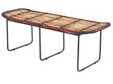 Rattan & Iron Black Wrap Bench