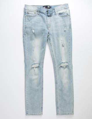 Rsq Tokyo Super Skinny Light Wash Destroyed Mens Jeans
