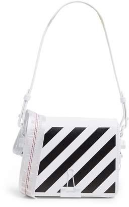 Off-White Off White Leather Stripe Binder Clip Bag