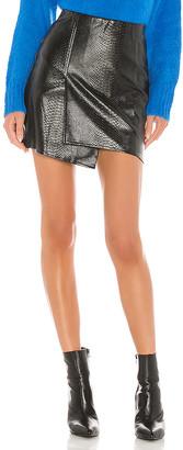 J.o.a. Faux Leather Overlap Mini Skirt