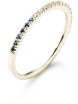 Hirotaka M.O Exclusive Version: Gossamer Black And White Diamond And Blue Sapphire Ring