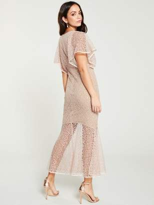 Forever Unique U Collection Bell Sleeve Midi Dress - Pink