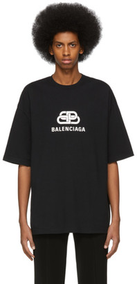 Balenciaga Black BB Regular Fit T-Shirt