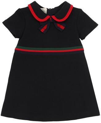 Gucci Cotton Sweatshirt Dress W/Bow