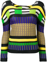 Issey Miyake colour block sweatshirt - women - Polyester - One Size